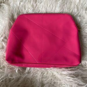 YSL hot pink beauty makeup bag